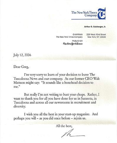 Sulzberger letter