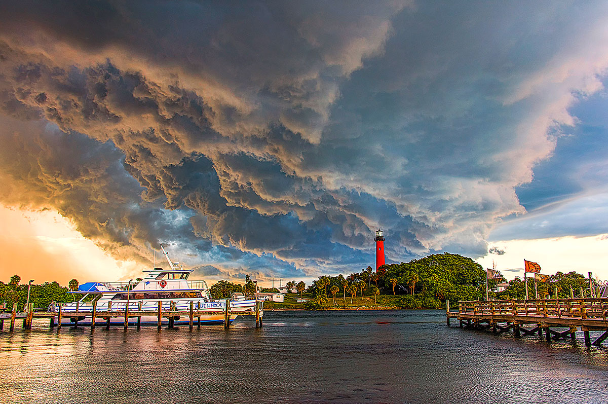 Ominous clouds over the Jupiter Inlet