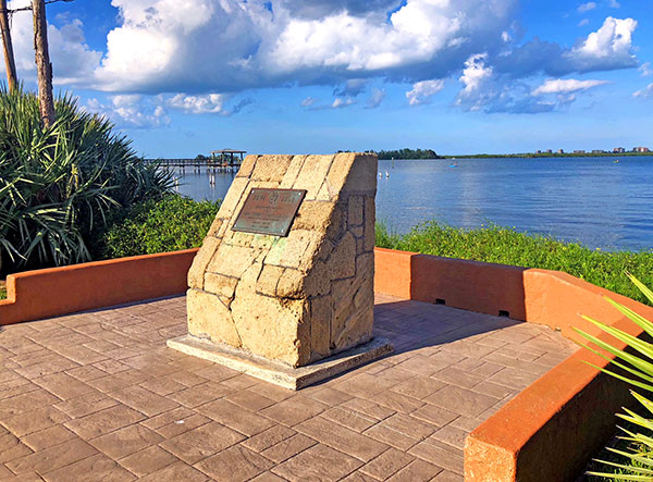 monument in St. Lucie Village