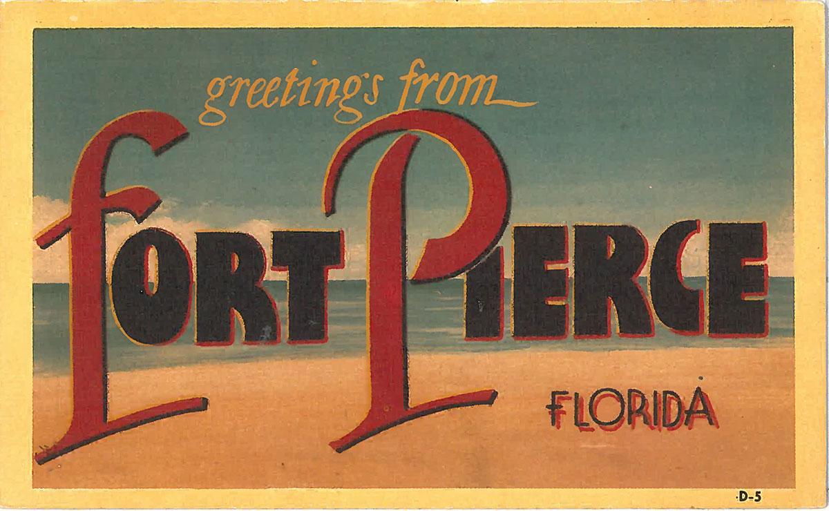 fort pierce postcard