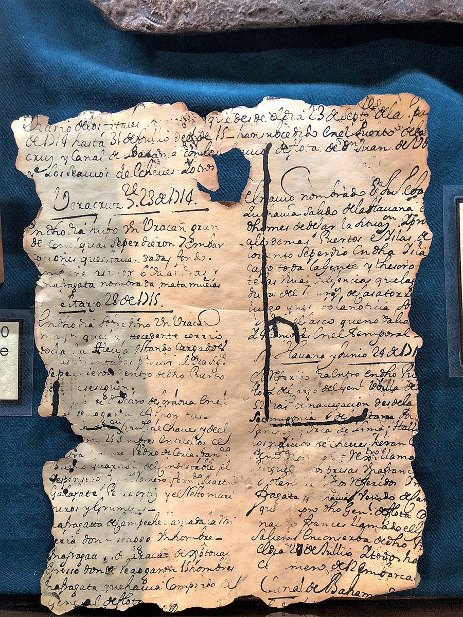 Spanish archival document
