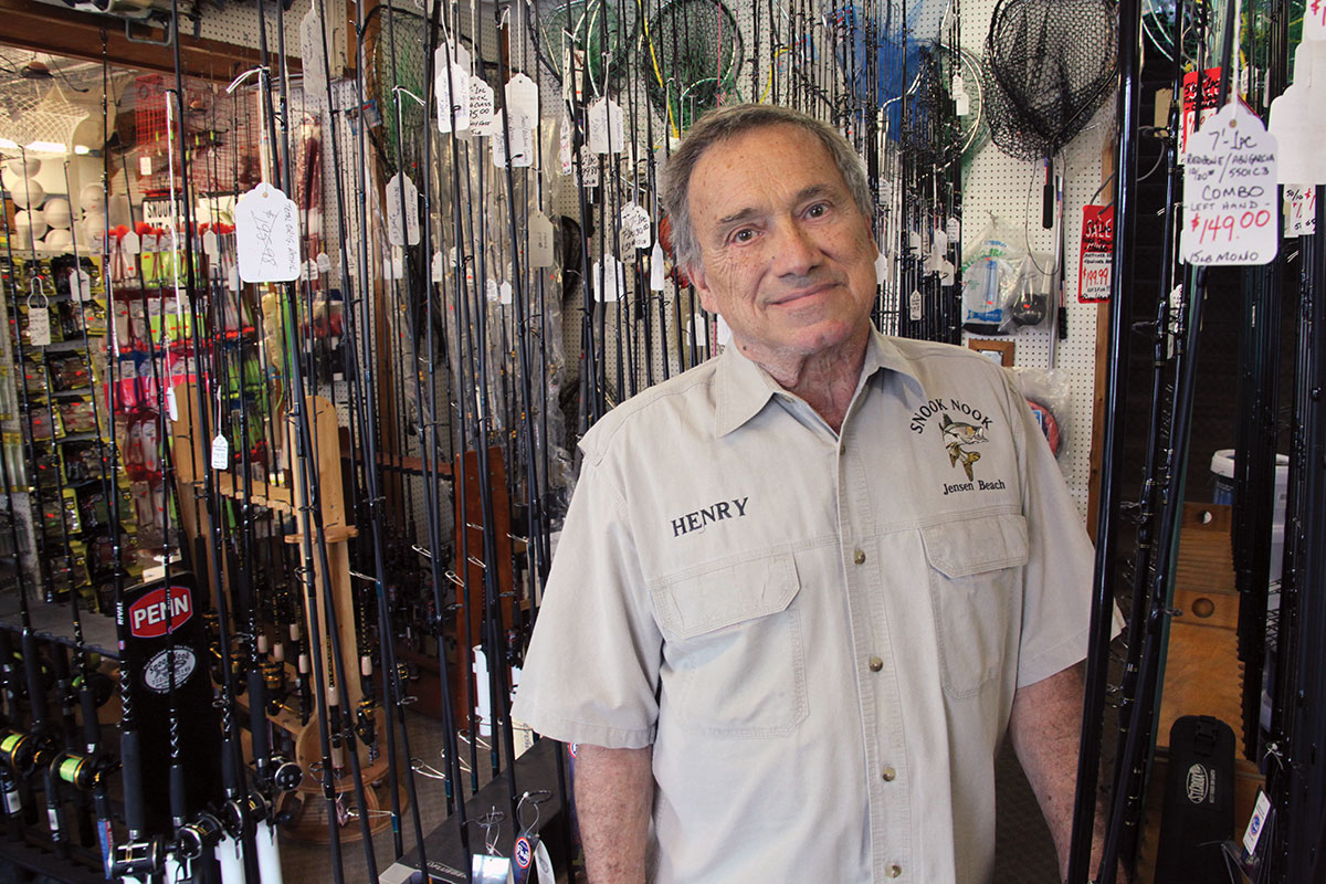 Henry Caimotto, owner of Snook Nook tackle shop