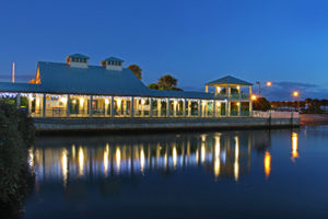 Manatee Center at night